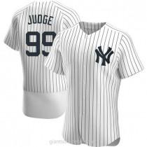 Mens Aaron Judge New York Yankees #99 Authentic White Home A592 Jersey