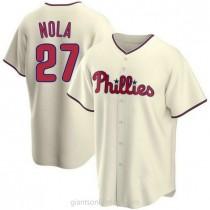 Mens Aaron Nola Philadelphia Phillies #27 Replica Cream Alternate A592 Jerseys