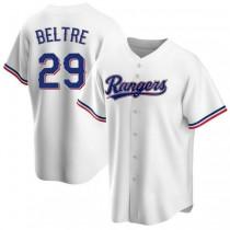 Mens Adrian Beltre Texas Rangers #29 Replica White Home A592 Jerseys