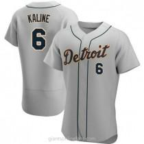 Mens Al Kaline Detroit Tigers #6 Authentic Gray Road A592 Jerseys