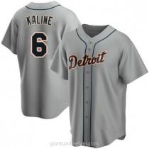 Mens Al Kaline Detroit Tigers #6 Replica Gray Road A592 Jerseys