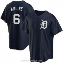 Mens Al Kaline Detroit Tigers #6 Replica Navy Alternate A592 Jerseys