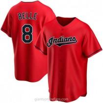 Mens Albert Belle Cleveland Indians #8 Replica Red Alternate A592 Jerseys