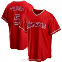 Mens Albert Pujols Los Angeles Angels Of Anaheim Replica Red Alternate A592 Jersey