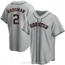 Mens Alex Bregman Houston Astros #2 Replica Gray Road A592 Jerseys