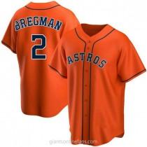 Mens Alex Bregman Houston Astros #2 Replica Orange Alternate A592 Jerseys