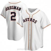 Mens Alex Bregman Houston Astros #2 Replica White Home A592 Jersey