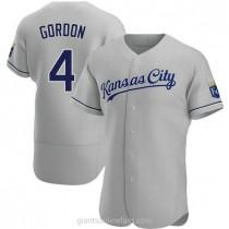 Mens Alex Gordon Kansas City Royals Authentic Gray Road A592 Jersey