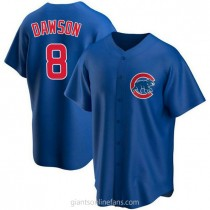 Mens Andre Dawson Chicago Cubs #8 Replica Royal Alternate A592 Jersey