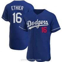 Mens Andre Ethier Los Angeles Dodgers #16 Authentic Royal Alternate A592 Jersey