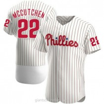 Mens Andrew Mccutchen Philadelphia Phillies #22 Authentic White Home A592 Jersey