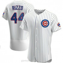 Mens Anthony Rizzo Chicago Cubs #44 Authentic White Home A592 Jersey