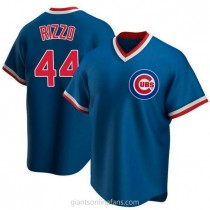 Mens Anthony Rizzo Chicago Cubs #44 Replica Royal Road Cooperstown Collection A592 Jersey