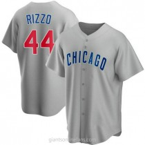 Mens Anthony Rizzo Chicago Cubs Replica Gray Road A592 Jersey