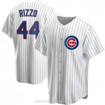 Mens Anthony Rizzo Chicago Cubs Replica White Home A592 Jersey
