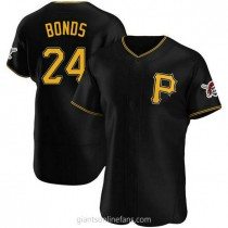 Mens Barry Bonds Pittsburgh Pirates #24 Authentic Black Alternate A592 Jersey