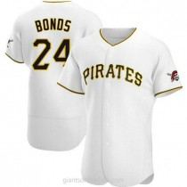 Mens Barry Bonds Pittsburgh Pirates #24 Authentic White Home A592 Jerseys