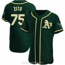 Mens Barry Zito Oakland Athletics #75 Authentic Green Alternate A592 Jersey