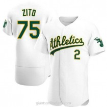 Mens Barry Zito Oakland Athletics Authentic White Home A592 Jersey