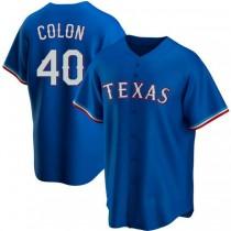 Mens Bartolo Colon Texas Rangers #40 Replica Royal Alternate A592 Jerseys