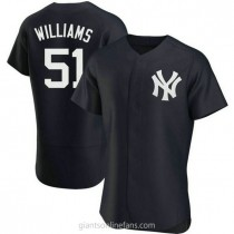 Mens Bernie Williams Nw York Yankees #51 Authentic Navy Alternate A592 Jersey