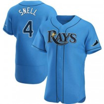 Mens Blake Snell Tampa Bay Rays #4 Authentic Light Blue Alternate A592 Jerseys