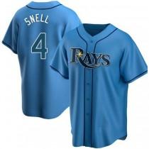 Mens Blake Snell Tampa Bay Rays #4 Replica Light Blue Alternate A592 Jersey