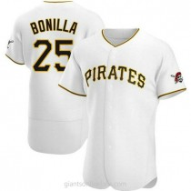 Mens Bobby Bonilla Pittsburgh Pirates #25 Authentic White Home A592 Jersey