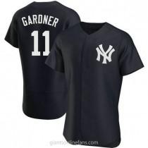 Mens Brett Gardner New York Yankees #11 Authentic Navy Alternate A592 Jerseys