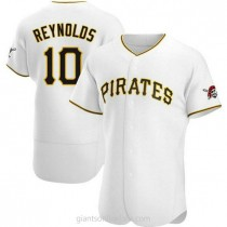 Mens Bryan Reynolds Pittsburgh Pirates #10 Authentic White Home A592 Jerseys