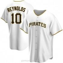 Mens Bryan Reynolds Pittsburgh Pirates #10 Replica White Home A592 Jerseys