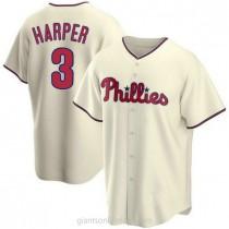 Mens Bryce Harper Philadelphia Phillies #3 Replica Cream Alternate A592 Jersey