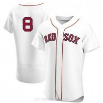Mens Carl Yastrzemski Boston Red Sox #8 Authentic White Home Team A592 Jerseys