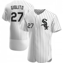 Mens Chicago White Sox #27 Lucas Giolito Authentic White Home Jersey
