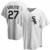 Mens Chicago White Sox #27 Lucas Giolito Replica White Home Jersey