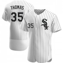 Mens Chicago White Sox #35 Frank Thomas Authentic White Home Jersey