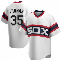 Mens Chicago White Sox #35 Frank Thomas Replica White Cooperstown Collection Jersey
