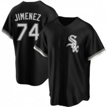 Mens Chicago White Sox #74 Eloy Jimenez Replica Black Alternate Jersey