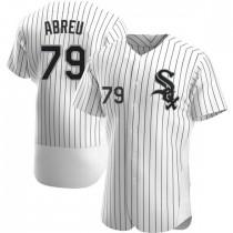 Mens Chicago White Sox #79 Jose Abreu Authentic White Home Jersey