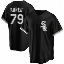 Mens Chicago White Sox #79 Jose Abreu Replica Black Alternate Jersey