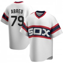 Mens Chicago White Sox #79 Jose Abreu Replica White Cooperstown Collection Jersey