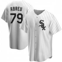 Mens Chicago White Sox #79 Jose Abreu Replica White Home Jersey