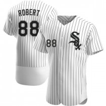 Mens Chicago White Sox #88 Luis Robert Authentic White Home Jersey