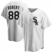 Mens Chicago White Sox #88 Luis Robert Replica White Home Jersey