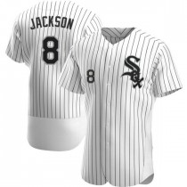 Mens Chicago White Sox #8 Bo Jackson Authentic White Home Jersey