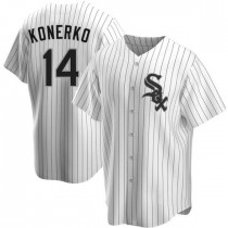 Mens Chicago White Sox Paul Konerko Replica White Home Jersey