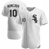 Mens Chicago White Sox Yoan Moncada Authentic White Home Jersey