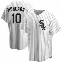 Mens Chicago White Sox Yoan Moncada Replica White Home Jersey