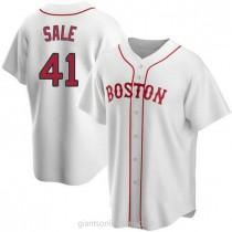 Mens Chris Sale Boston Red Sox #41 Replica White Alternate A592 Jerseys