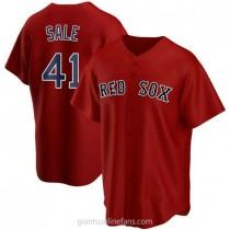 Mens Chris Sale Boston Red Sox Replica Red Alternate A592 Jersey